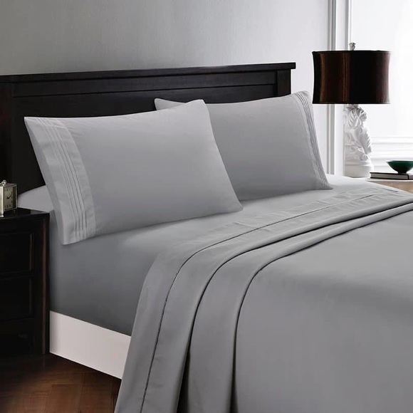 ✨SALE✨King 4pc Light Grey Bedsheets